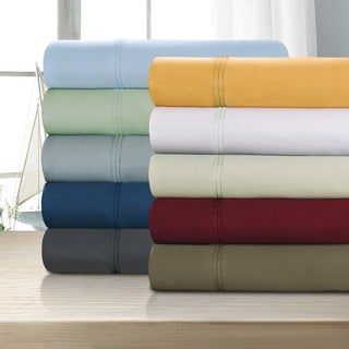 Egyptian Cotton 1200 Thread Count Solid Deep Pocket Sheet Set