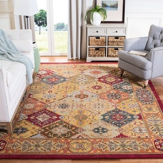 Safavieh Handmade Heritage Diamond Bakhtiari Multi/ Red Wool Rug (2' x 3')