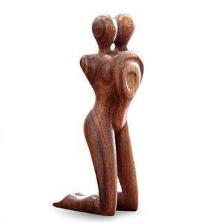 'Love in Love' Wood Statuette (Indonesia)