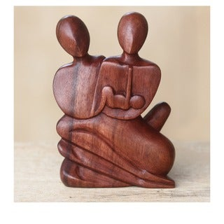 Wood 'Family Love' Statuette (Indonesia)