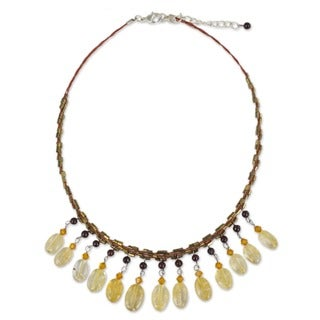 'Raindrops' Citrine and Garnet Choker (Thailand)