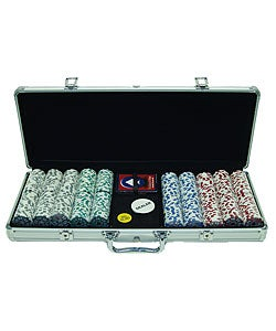 500 Piece High Roller Casino Poker Chip Set with Case