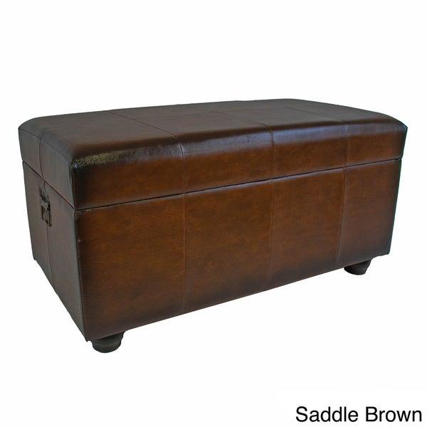 International Caravan Faux Leather Bench/ Trunk