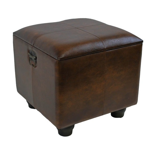 International Caravan Square Storage Ottoman with Ball Feet