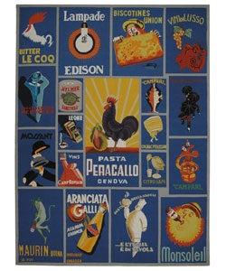 Safavieh Hand-hooked Vintage Poster Blue Wool Rug (8'9 x 11'9)