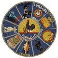 Safavieh Hand-hooked Vintage Poster Blue Wool Rug (5'5 Round)