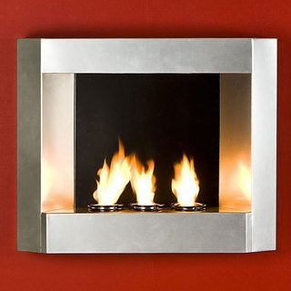 Upton Home Contemporary Wall Mount Gel Fuel Fireplace