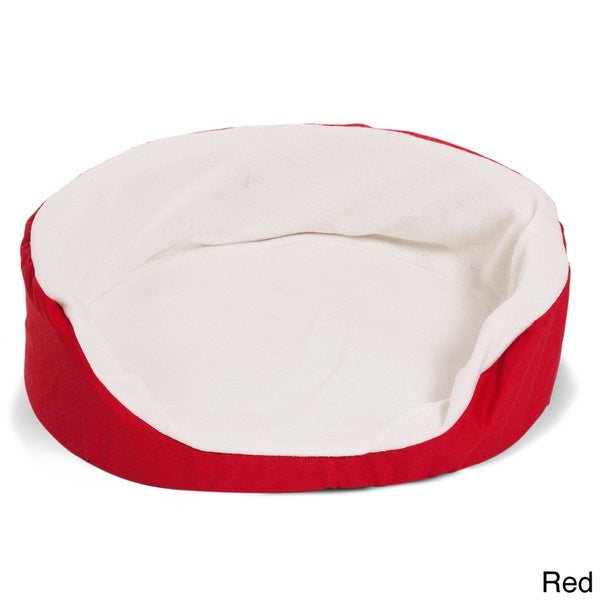 Extra-large Soft Front-access Lounger Dog Pet Bed with Sherpa Lining