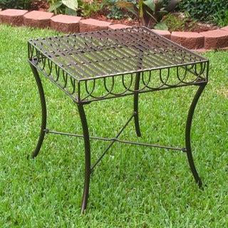 International Caravan Sun Ray Iron Side Table