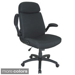 Mayline Big and Tall Adjustable Heavy-duty Cushioned Pivot Arm Chair