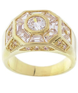 Simon Frank 3.78 Equivalent Diamond Weight Men's Octagon CZ Ring