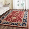 Handmade Oushak Traditional Red Wool Rug (9&#39; x 12&#39;)