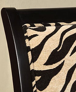 Turned Leg Zebra Print Arm Chair