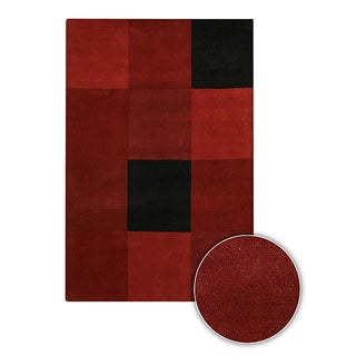 Hand-tufted Contemporary Mandara Wool Area Rug (7'9 x 10'6)