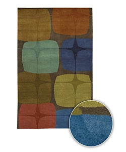 Hand-Tufted Mandara Contemporary Geometric-Print Wool Rug (8' x 11')