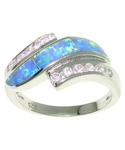 CGC Opal and CZ Sterling Silver Ring