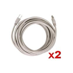 Eforcity 2 pack 15ft USB 2.0 Extension Printer Cable A to B M/M