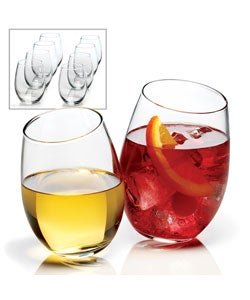Anchor Hocking 8-piece Stemless Wine Glass Set
