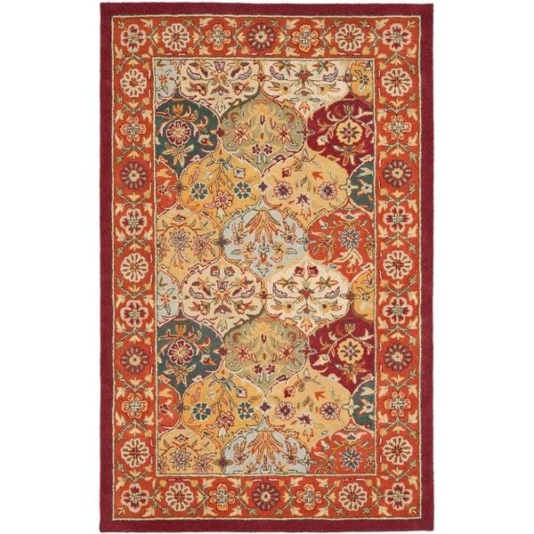 Safavieh Handmade Heritage Bakhtiari Multicolored/Red Wool Area Rug (6' x 9')