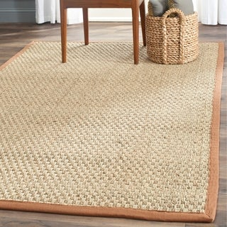 Safavieh Hand-woven Sisal Natural/ Brown Seagrass Rug (6' x 9')