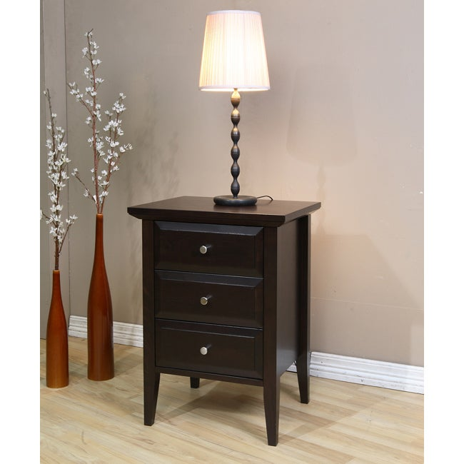 drawer nightstand table bedroom furniture night stand end side accent