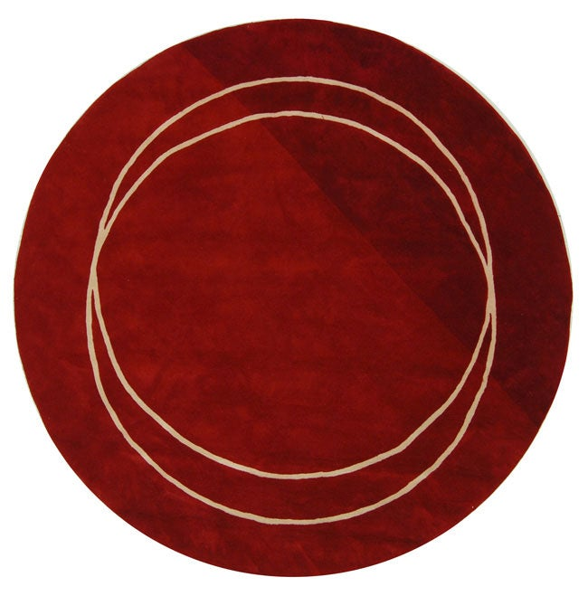 Safavieh Handmade Rodeo Drive Circle of Life Red/ Ivory N ...