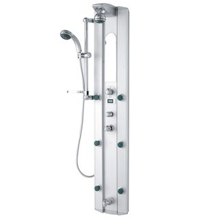 Shower Massage Panel with Digital Thermometer and Spout