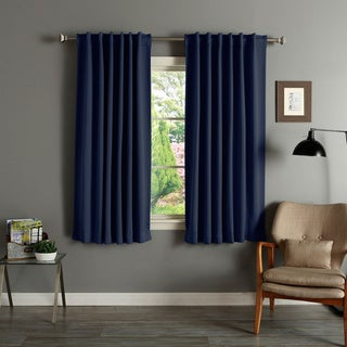 Solid Insulated Thermal Blackout 63-inch Curtain Panel Pair