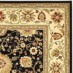 Safavieh Lyndhurst Collection Majestic Black/ Ivory Rug (8' x 11')
