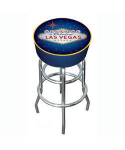 Las Vegas Padded Chrome Bar Stool