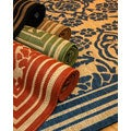 Damask Polypropylene Area Rug (2' x 7'6)