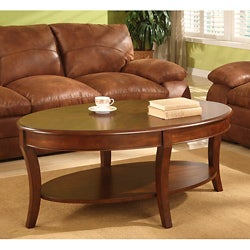 oval coffee table sets