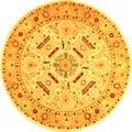 Safavieh Handmade Tribal Ivory/ Gold Wool Rug (6' Round)