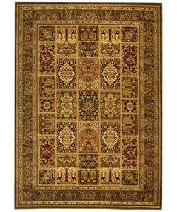 Safavieh Lyndhurst Collection Isfan Green/ Multi Rug (8' x 11')