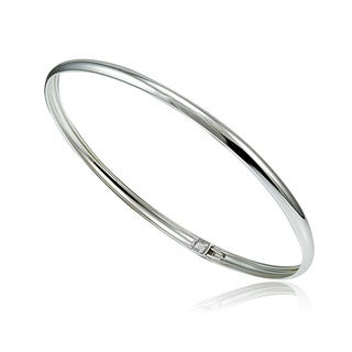 Mondevio Sterling Silver Polished Flex Bangle