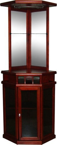 Mahogany Finish Corner Bar