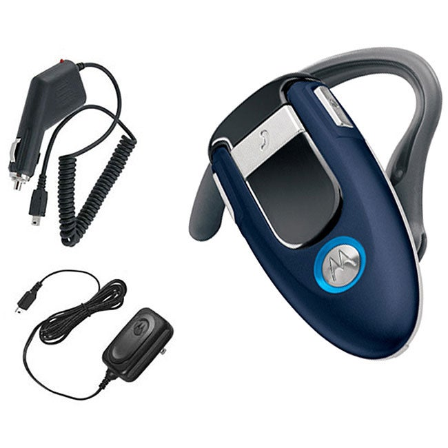Motorola H500 Cosmic Blue Bluetooth Headset Kit