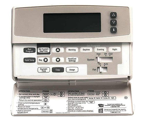 honeywell programmable thermostat instructions