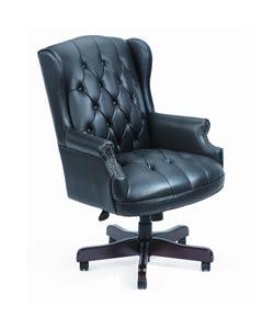 Boss Black Traditional High-Back Executive Chair