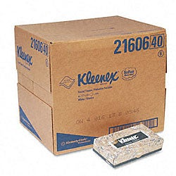 Kleenex White 2-ply Tissue Dispenser Pop-up Box - 125/ Box (48 Boxes per Carton)