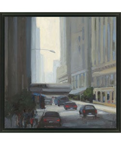 Kim Coulter 'Downtown I' Framed Canvas Art