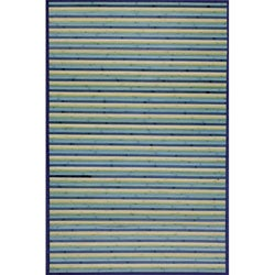 Blue Bamboo Area Rug (8' x 10')
