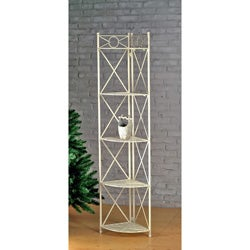 Iron 5-tier Corner Shelf
