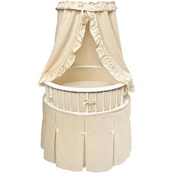 Elite Oval Baby Bassinet with Ecru Bedding