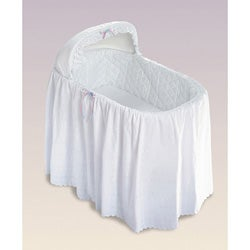 Eyelet One-tier Bassinet Skirt Set
