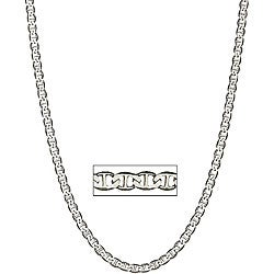 Simon Frank 14k White Gold Overlay 24-inch Gucci-style Necklace 6mm