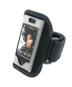 Padded Deluxe ArmBand for Apple iPhone with Velcro Strap - Black