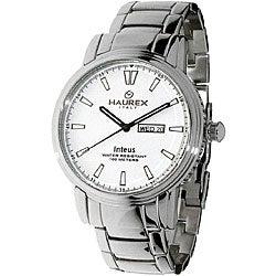 Haurex Italy Inteus Men's Silver Dial Steel Watch Model # 2A276UW1