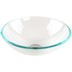 Fontaine Crystal Clear Glass Vessel Bathroom Sink