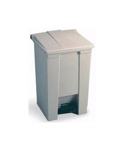 Rubbermaid Step-On Open 18-gal. Beige Trash Container w/Rigid Liner